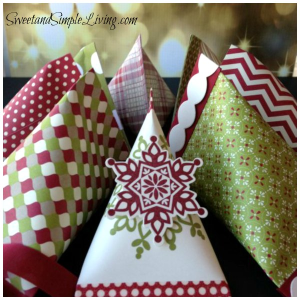 Christmas Paper Craft Ideas Sour Cream Container