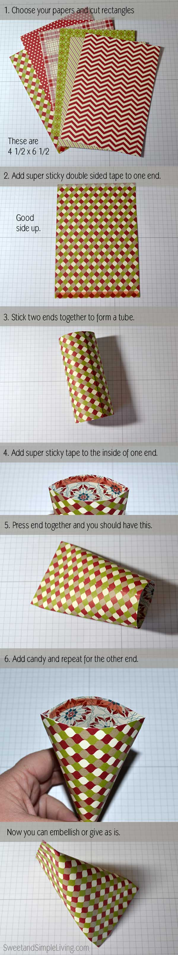 Christmas Paper Craft Ideas Sour Cream Container Instructions