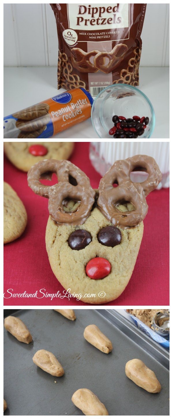 Easy Reindeer Cookies Sweet And Simple Living