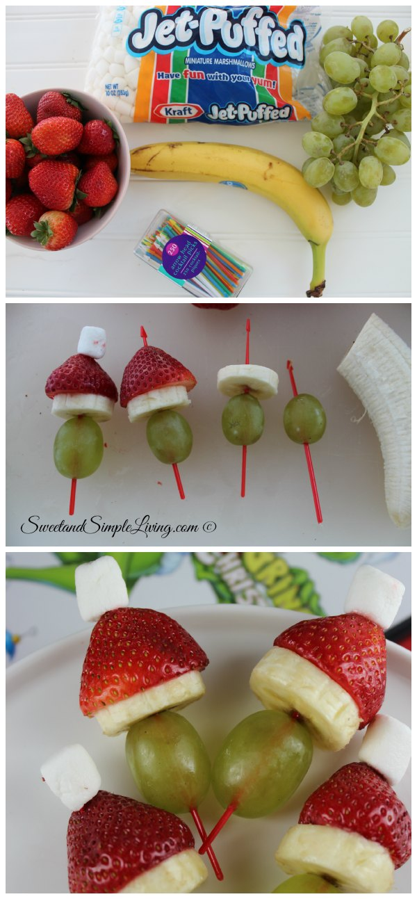 Grinch Fruit Kabobs Ingredients