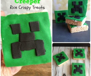 Minecraft Creeper Rice Crispy Treats