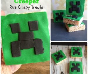 Minecraft Creeper Rice Crispy Treats