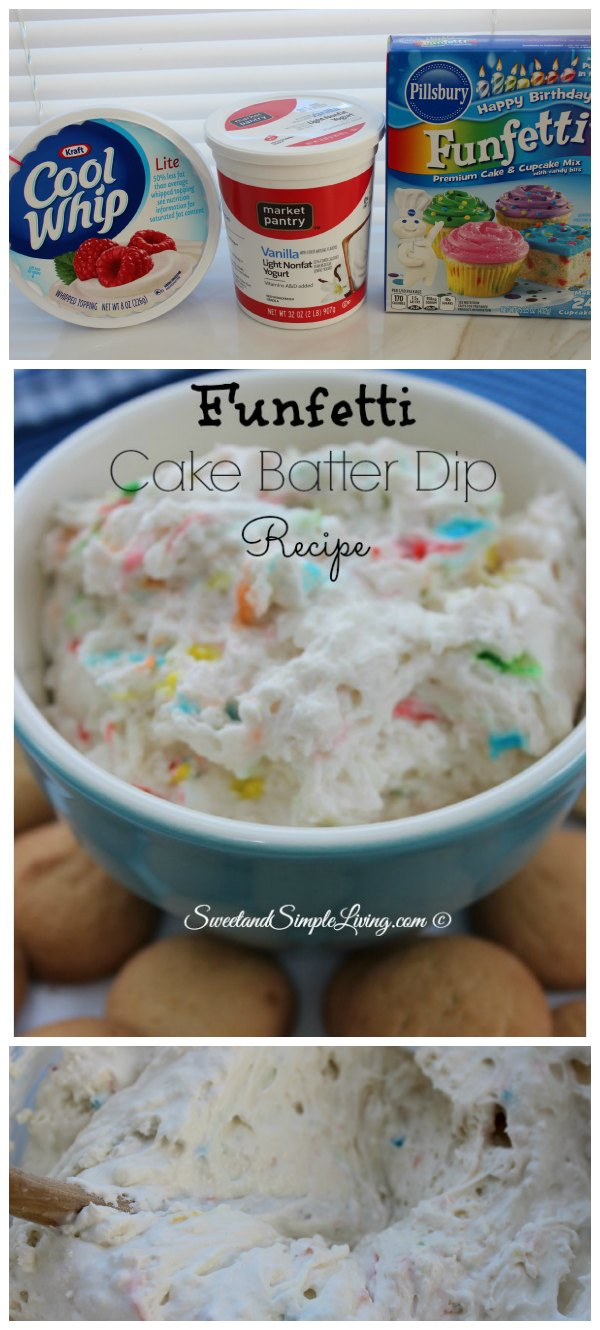 Easy Funfetti Cake Batter Dip Recipe Sweet and Simple Living