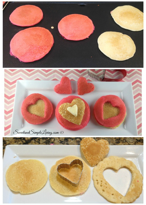 Valentineu0027s Day Breakfast Idea: Heart Shaped Pancakes