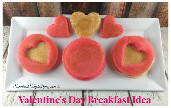 valentine's day breakfast idea: heart shaped pancakes - sweet and, Ideas