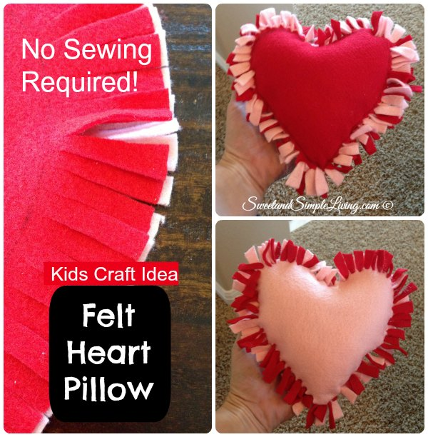 Diy Felt Heart Craft Idea No Sewing Required Sweet And Simple Living