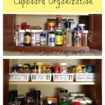 Kitchen Organization: Cheap and Easy Spice Cupboard