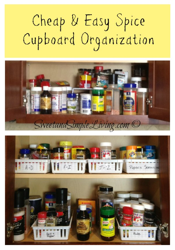 Kitchen organization cheap and easy spice cupboard - Basic kitchen upgrades to liven up your kitchen ...