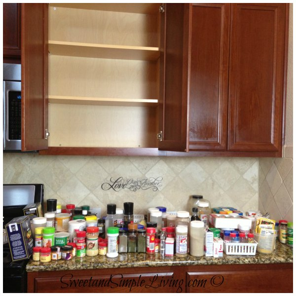 Inexpensive Kitchen Storage Ideas: Kitchen Organization: Cheap And Easy Spice Cupboard