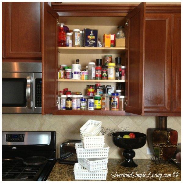 Kitchen organization cheap and easy spice cupboard kitchen organization workwithnaturefo