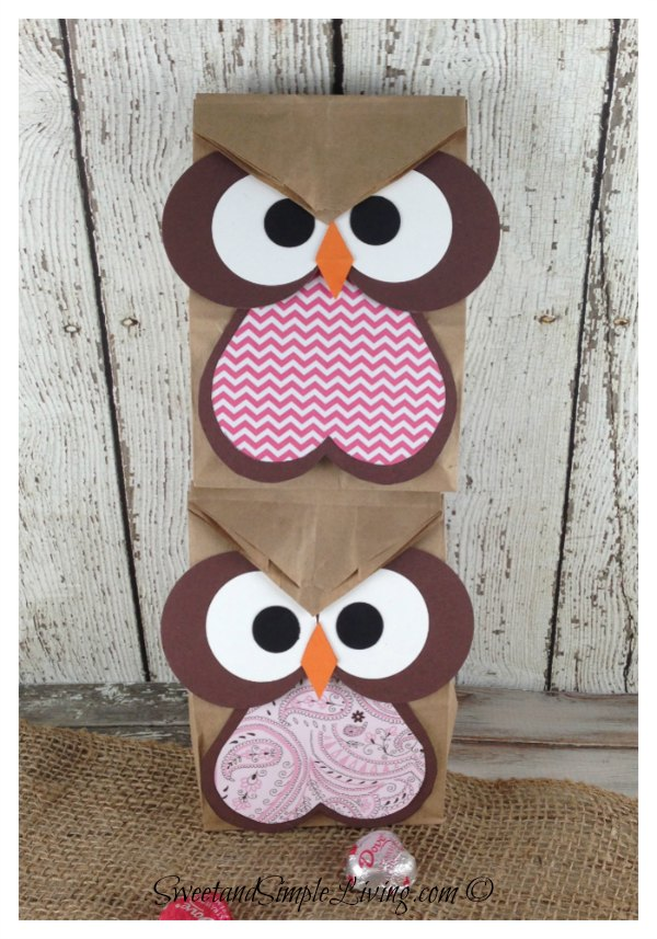 Owl Crafts Easy Treat Bag Perfect For Parties Sweet And Simple
