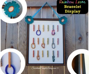 Rainbow Loom Bracelet Display Board