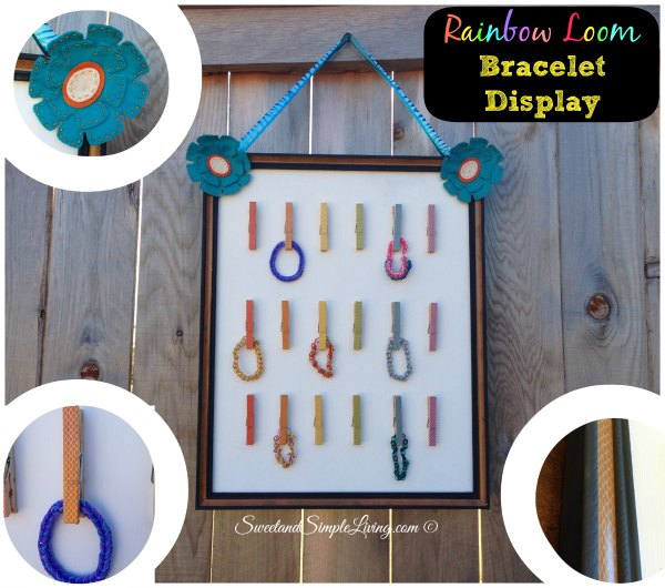 Rainbow Loom Bracelet Display