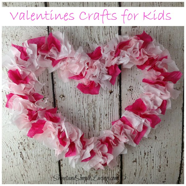 The best valentine 39 s day ideas 2015 sweet and simple living for Valentine crafts for kindergarteners