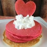 Valentine's Day Breakfast Idea:  Heart Shaped Pancakes