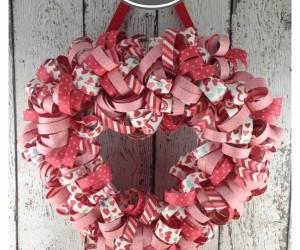 Valentine's Day Heart Wreath 1a