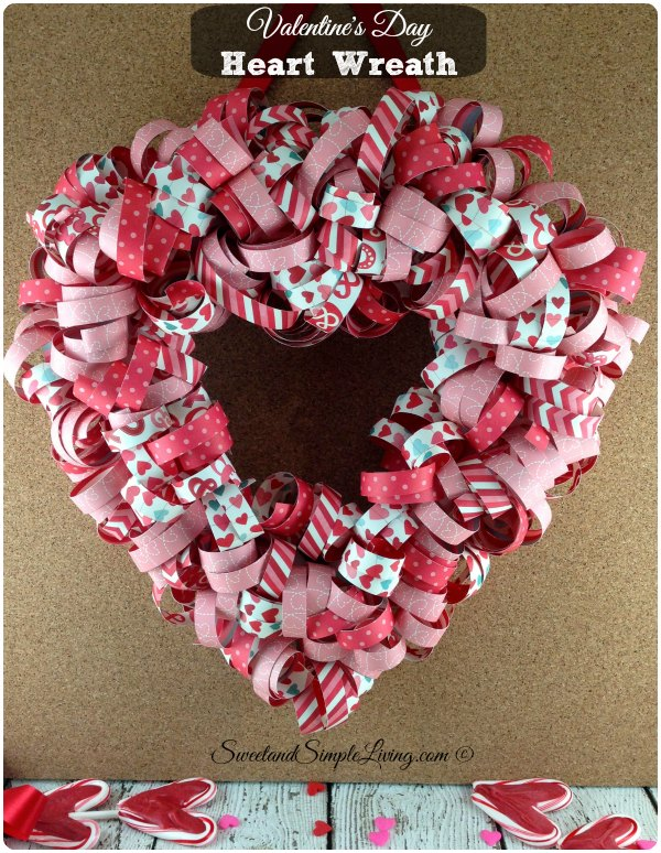 Valentine's Day Heart Wreath Tutorial step by step guide