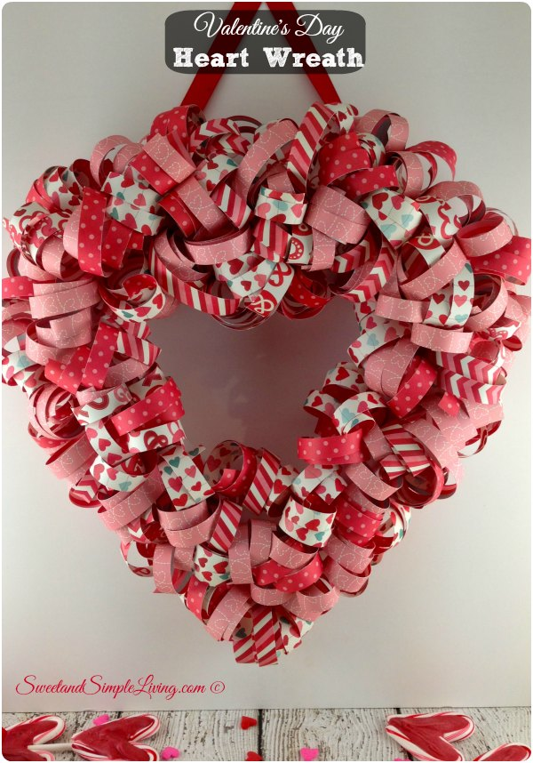 Valentine's Day Heart Wreath Tutorial