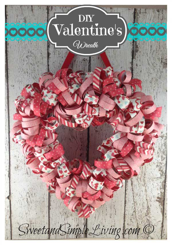 Valentine's Day Heart Wreath 1a