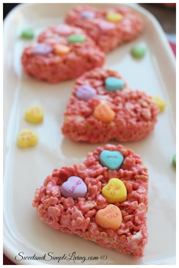 Valentine's Day Rice Crispy Treats that are easy to make