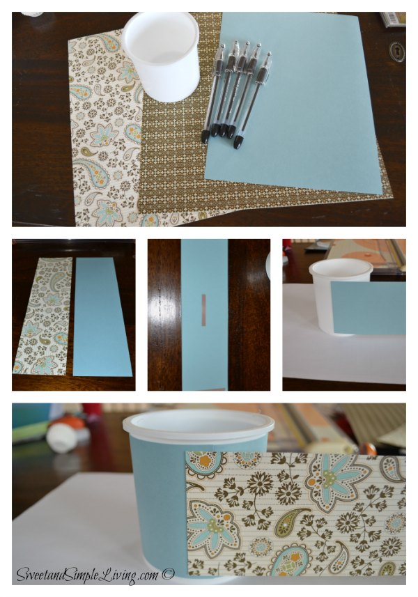 Diy pen holder sweet and simple living Diy pencil holder for desk