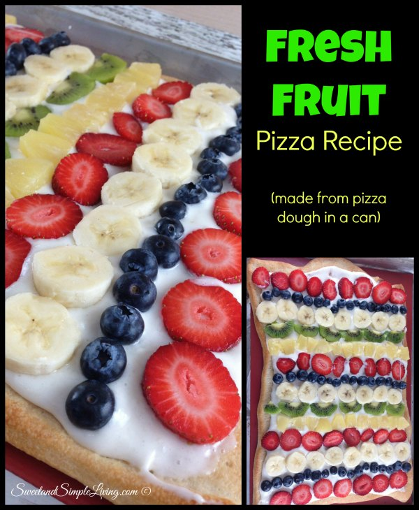 Fresh Fruit Pizza Recipe (made with Pizza Dough from a Can ...