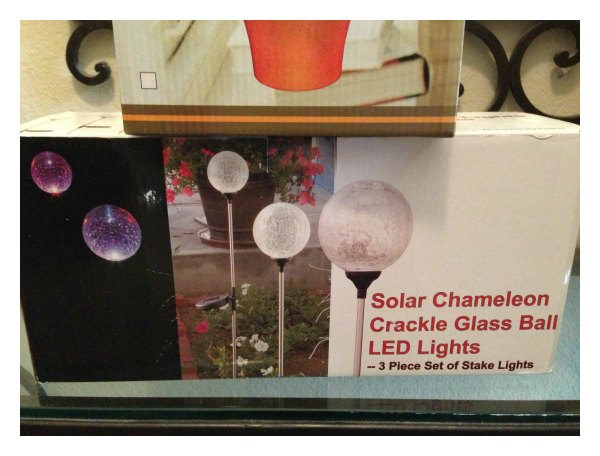 Solar Chameleon Crackle Glass Ball LED Lights