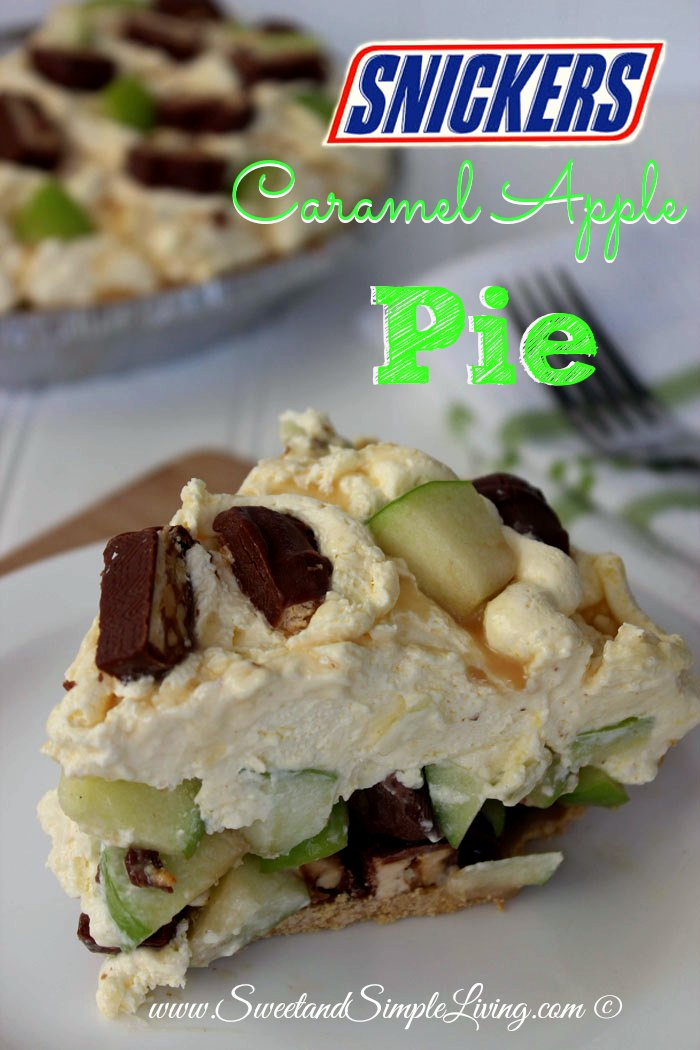 Easy Snickers Caramel Apple Pie Recipe