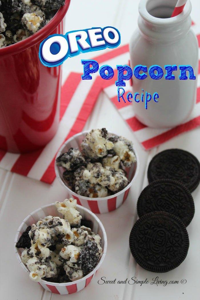 Delicious Oreo Popcorn Recipe