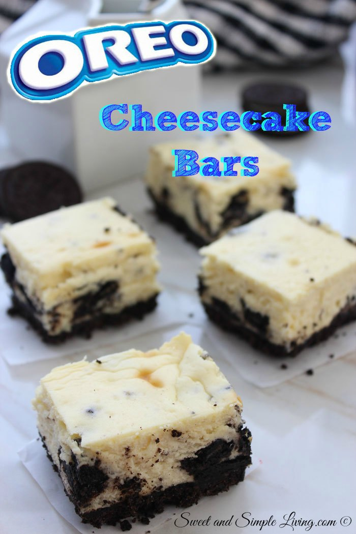 Oreo Cheesecake Bars: 7 Ingredients For A Quick Dessert
