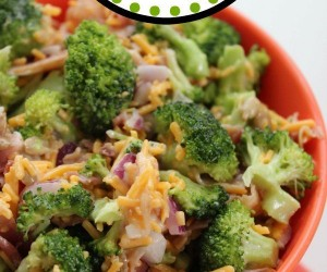 Bacon and Cheese Broccoli Salad