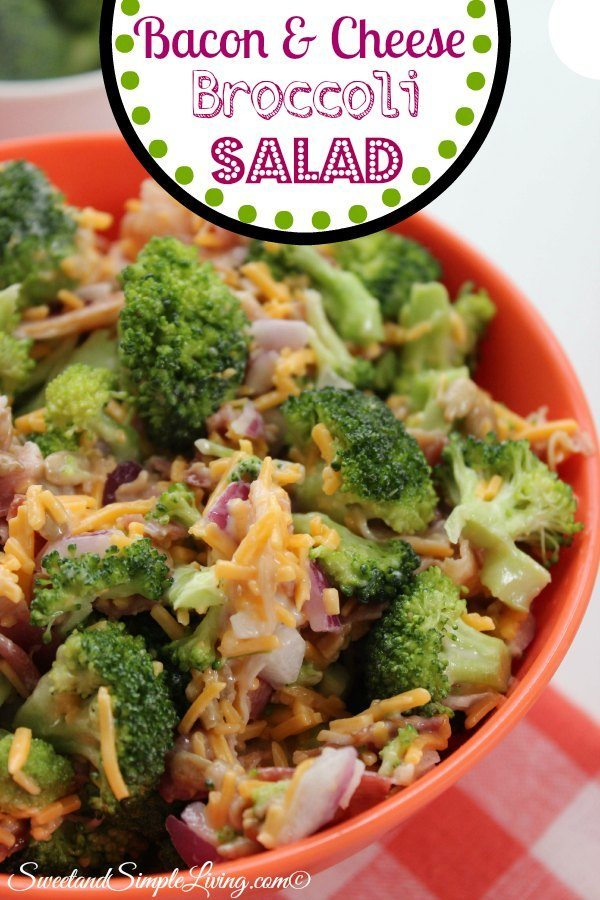 Bacon And Cheese Broccoli Salad Sweet And Simple Living