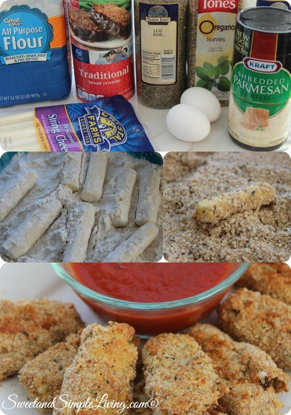oven fried mozarella sticks