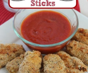 Oven Fried Mozzarella Sticks