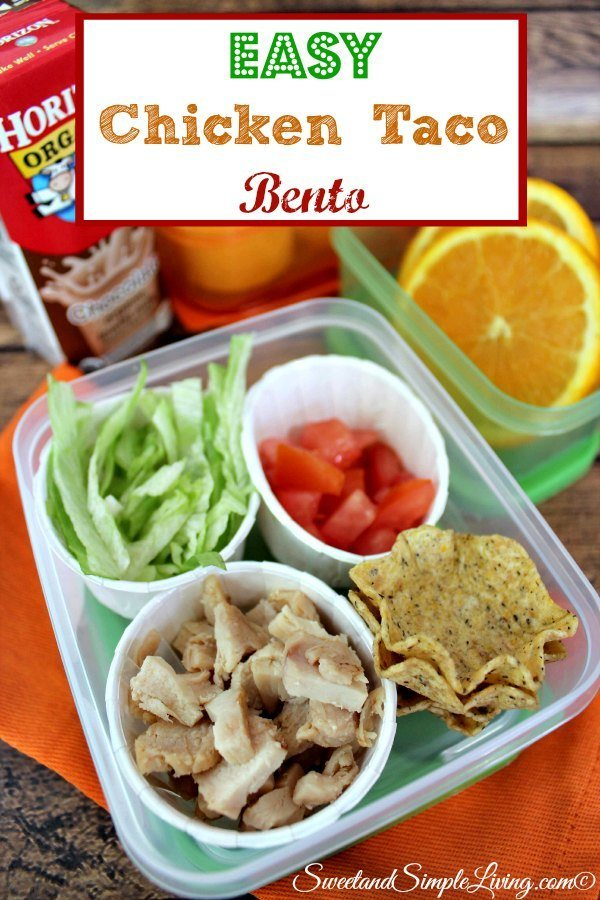 easy chicken taco bento sweet and simple living. Black Bedroom Furniture Sets. Home Design Ideas
