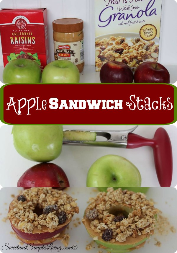 apple sandwich stacks