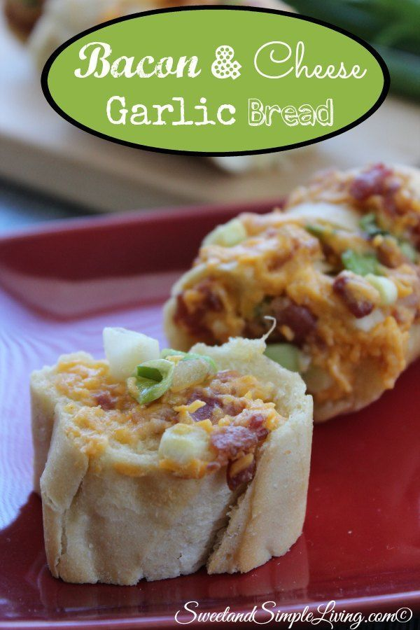 bacon and cheese garlic bread