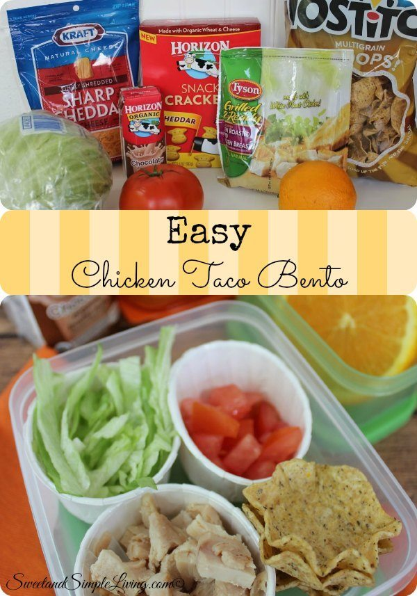 easy chicken taco bento