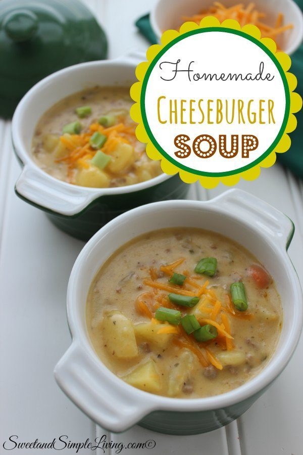 homemade cheesburger soup