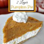 Easy No-Bake 2 Layer Pumpkin Pie
