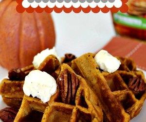 Homemade Pumpkin Belgian Waffles