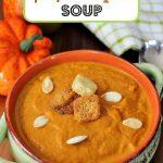 Homemade Spicy Pumpkin Soup