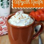 Pumpkin Spice Latte Copycat Recipe