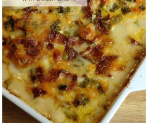 Chicken Potato Casserole with Bacon Bits