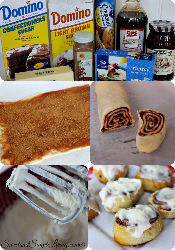 Apple Butter Cinnamon Rolls Sweet And Simple Living