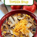 Crockpot Chipotle Chicken Tortilla Soup