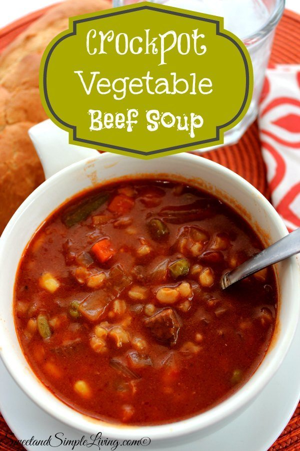 crockpot vegetable beef soup