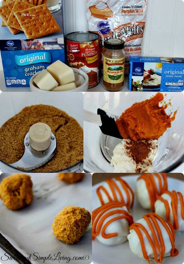 diy pumpkin cream cheese truffle