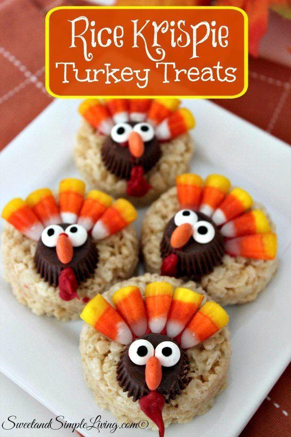 thanksgiving turkey cookie treats