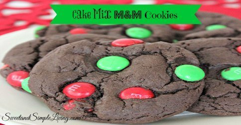 Cake Mix M M Cookies Sweet And Simple Living